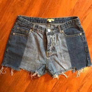 Gianni Bini Two Toned Denim Shorts